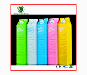 Milk Shape Battery Power Bank Mobile Power