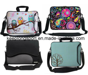 Customized Sublimation Printing Laptop Bag with Shoulder Belt with Colorful Pattern
