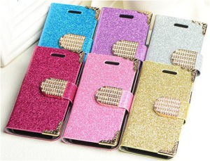 Hot Selling Luxury Diamond Wallet Leather Case for Samsung pictures & photos