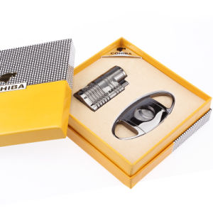 Cohiba Double Openings Straight Lighter Suit with Cigar Cutters (ES-CA-008) pictures & photos