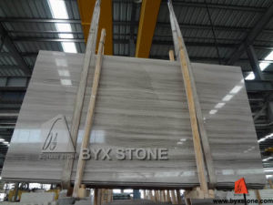 White Wooden Vein Marble Polished Big Slab for Wall, Countertop pictures & photos