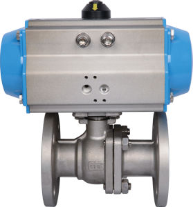 Good Quality Pneumatic Flange Ball Valve pictures & photos
