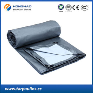 Silver Polyster Tarp PE Doubel-Coated Tarpaulin for Cover pictures & photos