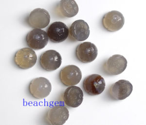 Jewelry Parts-Natural Gray Onyx Lotus Beads pictures & photos