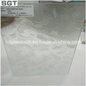 10.38mm 12.38mm Laminated/Toughened Patterned Glass for Shower Screen pictures & photos