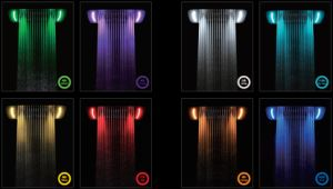Ce Approved 7colors LED Rainfall and Waterfall Shower Head pictures & photos