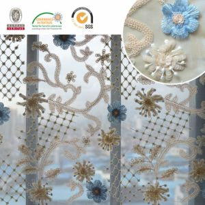 F138 Colorful Embroidery Polyester Lace Sequin Fabric pictures & photos