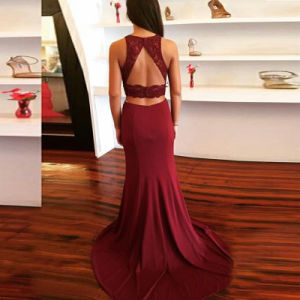 Spandex Jersey Party Party Gowns Stock Lace Mermaid Cocktail Evening Dresses Y2020 pictures & photos