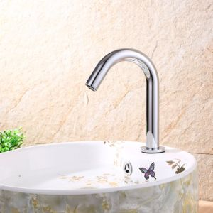 Flg Bathroom Basin Automatic Sensor Chromed Single Cold Sensor Faucet pictures & photos