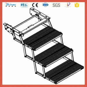 Ce Aluminum Folding 3 Step Electric Side Step Ladder for Vehicle with LED Light pictures & photos