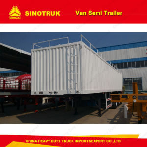 Hot Sale 3 Axle Van/Box/Cargo Truck Semi Trailer Truck Trailer pictures & photos
