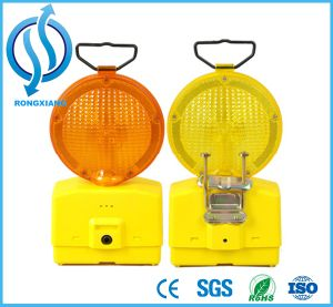 Road Safety Product Flashing LED Solar Warning Traffic Cone Light pictures & photos