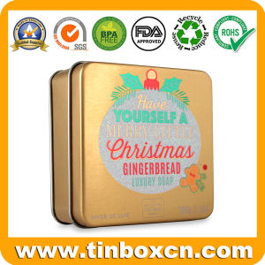3.5oz/100g Square Soap Tin Box for Metal Gift Packaging Boxes pictures & photos