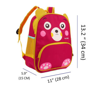 New Custom 600d Polyester Small Red Kids Backpack Baby School Bag pictures & photos