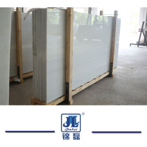 Artificial Crystallized White Nano Marble for Modern Kitchen Countertop and Tile pictures & photos