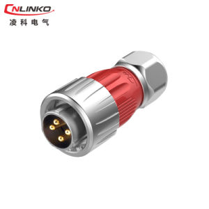 Factory Supply Zinc Alloy 4 Pin Waterproof Connector pictures & photos