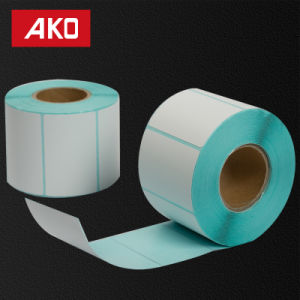 """1""""2"""" (25.4mm*50.8mm) Thermal Peper Layer Hot Melt Glassine Liner Heat Sensitive Self Adhesive Sticker pictures & photos"""