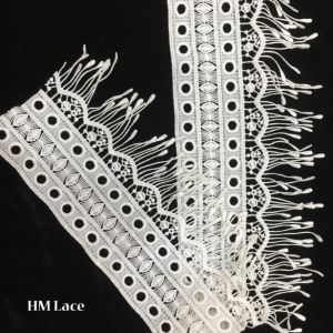 12.5cm off White Venise Lace Trim with Pendant, Bridal Lace Trim, Exquisite Trim Lace with Necklace, Guipure Lace Trimming Hmw6343 pictures & photos