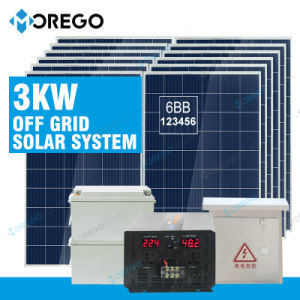 Morego off Grid 3kw Solar System Farm Usage pictures & photos