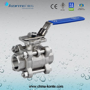 Stainless Steel 3PC Ball Valve with ISO 5211 Mounting Pad pictures & photos