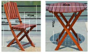 Outdoor Coffee Table and Chairs Folded Table and Chairs Garden Set (M-X1051) pictures & photos