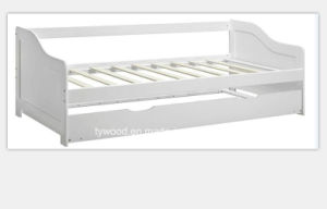 Single White Pine Wooden Bed with Underbed pictures & photos