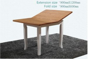 New Design Extendable Solid Wood Furniture Dining Table and Chairs pictures & photos