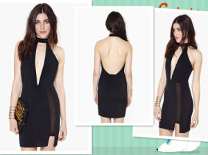 Free Shipping New Sexy Backless V Neck, Mini Ladies Dress