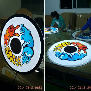 Roundness Light Box Circle Light Box Circular Light Box pictures & photos