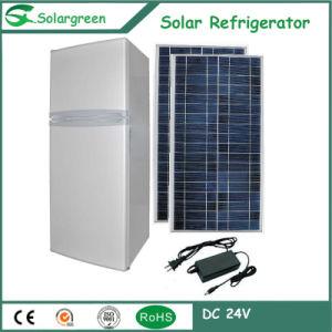 168litre 75L Freezer Room Double Doors Bottom-Freezer Solar Refrigerator pictures & photos