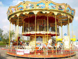 2017 Newest Luxury Double-Deck Horse Riding Carousel for Amusement Park pictures & photos