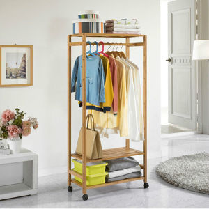 Bamboo Coat Rack Clothing Rack Storage pictures & photos