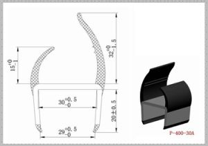 Durable PVC Trailer Door Seals P-400-30A