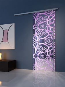Tempered Frosted Silk Screen Glass Partition for Decoration pictures & photos