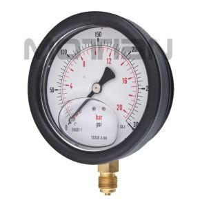 4 Inch Glycerin Silicon Liquid Oil Filled Bourdon Tube Pressure Gauge pictures & photos