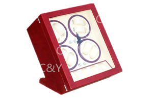 Custom Piano Lacquer Wood Quad Automatic Watch Winder for Eight Watches pictures & photos