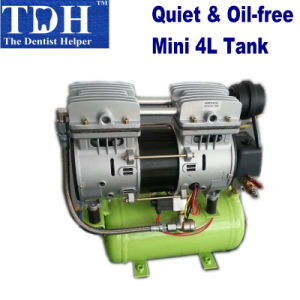 CE Approved Oilless & Noiseless Mini Air Compressor 4L (TDH-4L) pictures & photos