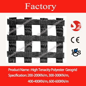 Polyester Woven Biaxial Geogrid 400kn/M for Soft Soil Reinforcement