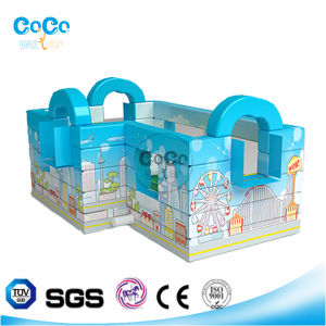 Newest Cocowater Design Urban Theme Inflatable Bouncer LG9005