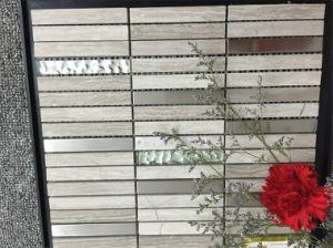 Long Strip Design Marble Mix Metal Mosaic pictures & photos