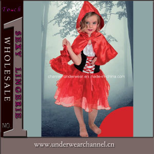 Girls Storybook Red Riding Hood Halloween Party Costume (4005) pictures & photos