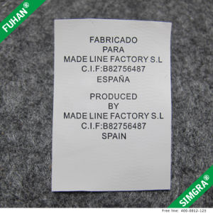 Printed Satin Smooth Care Labels for Garments pictures & photos