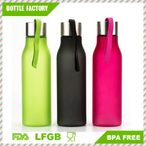 Matte Plastic Water Bottle with Handle BPA-Free pictures & photos