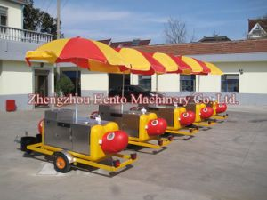 High Quality Stainless Steel Mobile Hot Dog Cart pictures & photos