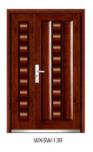 Steel Wooden Door (WX-SW-138) pictures & photos