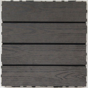 Hl Eco-Friendly Wood Plastic Composite (WPC) Decking Tile Measures 300*300mm pictures & photos