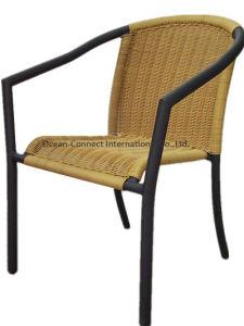 Stacking Rattan Chair Outdoor Garden Wicker Chair