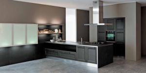 Dark Grey Modern Kitchen china welbom dark grey modern antique alder square product kitchen