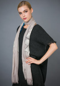 10% Cashmere&90% Wool Printed Shawl pictures & photos
