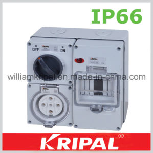 5 Pin 32A IP66 Waterproof Switched Socket pictures & photos